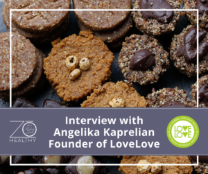 NJ Personal Wellness Coach Audrey Zona interview with LoveLove desserts angelika kaprelian