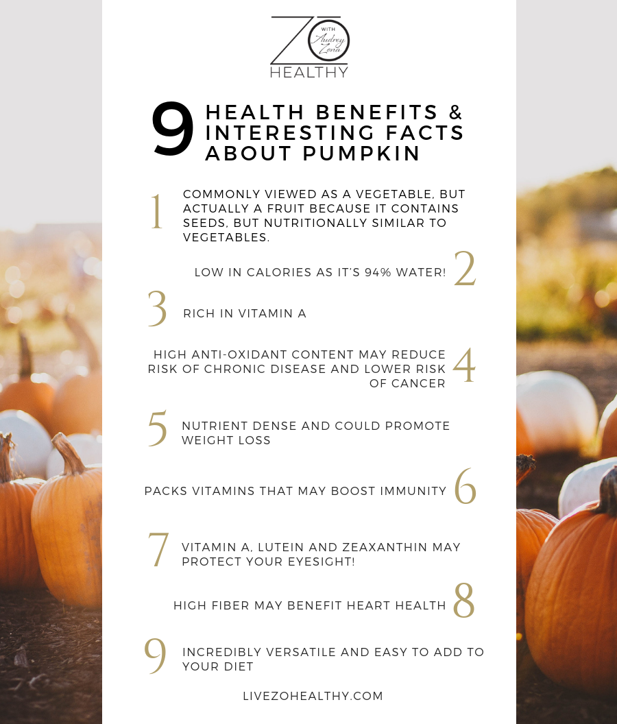NJ Personal Wellness Coach Audrey Zona 9 Health Benefits and Interesting Facts About Pumpkin
