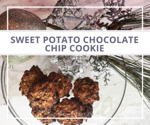 NJ Personal Wellness Coach Audrey Zona Recipe Sweet Potato Chocolate Chip Cookie