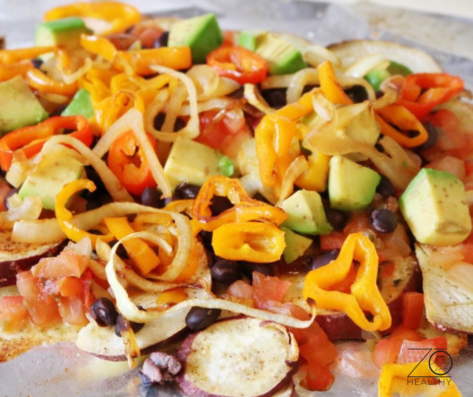 NJ Personal Health Coach Integrative Health Coach Audrey Zona Super Bowl Recipes Sweet Potato Nachos