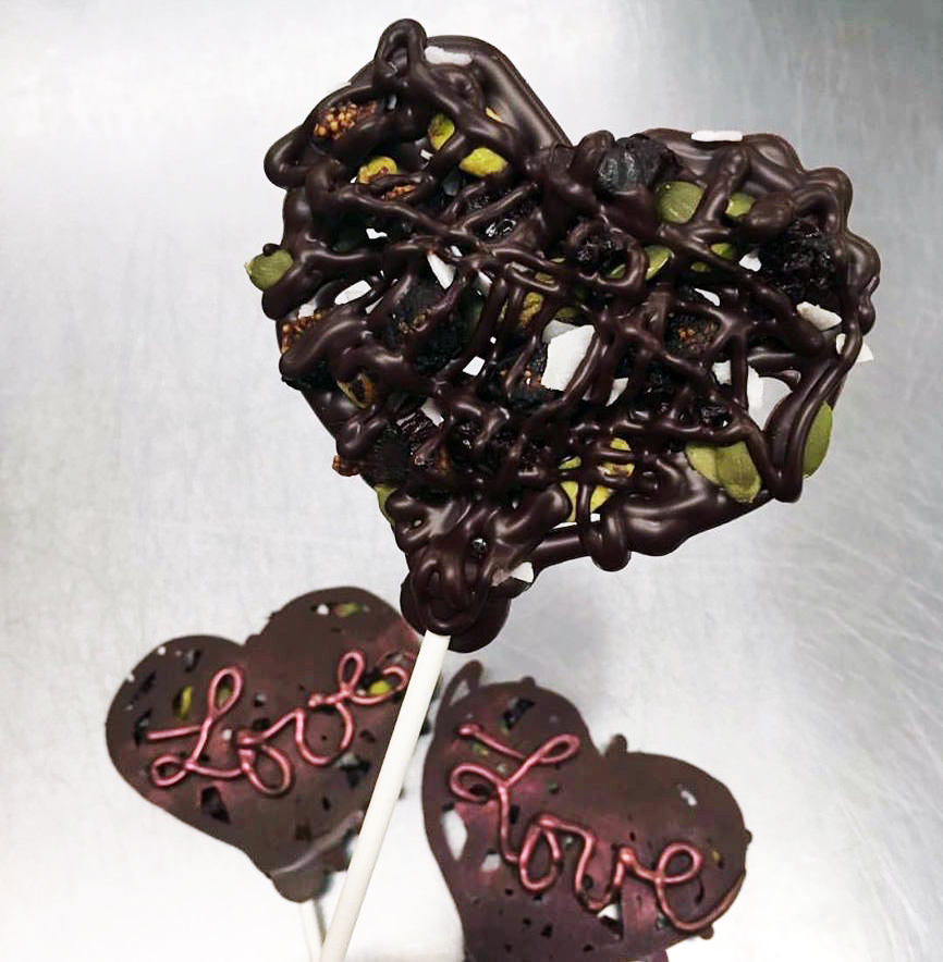Audrey Zona NJ Integrative Personal Health Coach Favorite Valentine's Day Gifts Luxx Chocolat chocolate pops