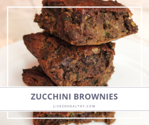NJ Personal Health Coach Integrative Health Coach Audrey Zona Zucchini Brownie Recipe feature image