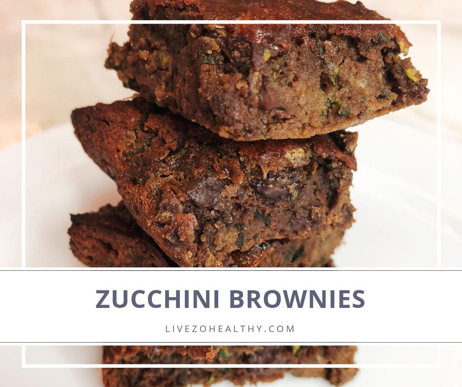 NJ Personal Health Coach Integrative Health Coach Audrey Zona Zucchini Brownie Recipe feature image