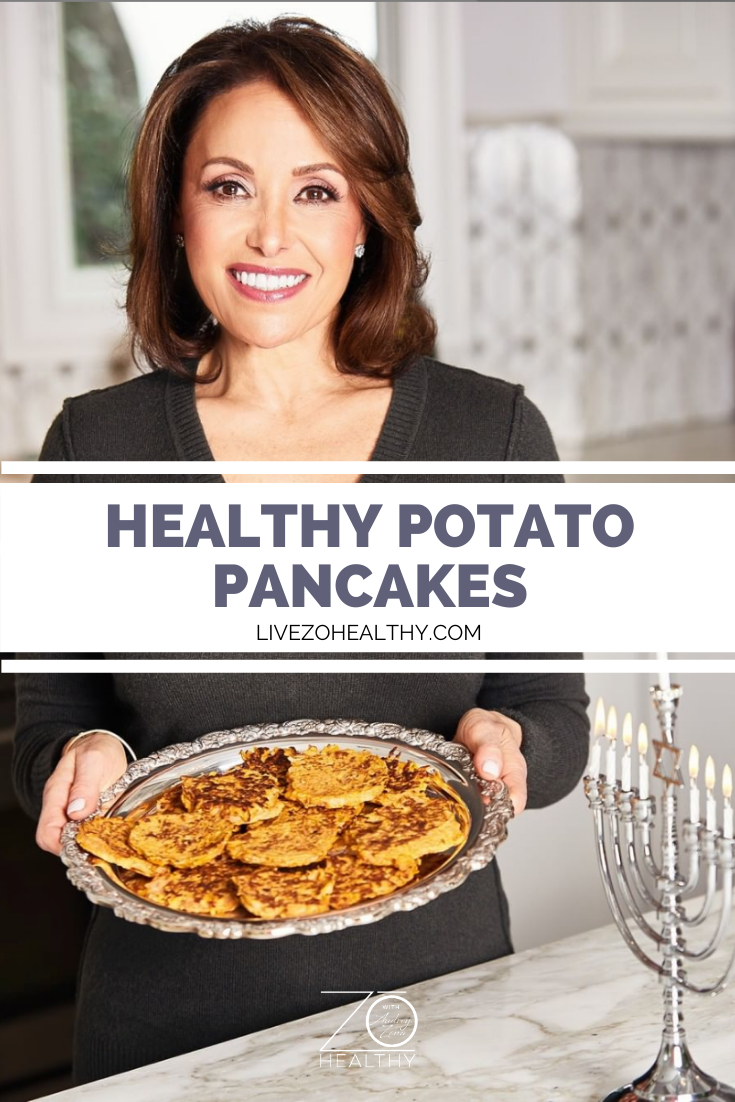 Healthy Potato Pancakes for Hanukkah, NJ Personal Health Coach Integrative Health Coach Audrey Zona, Live Zo Healthy