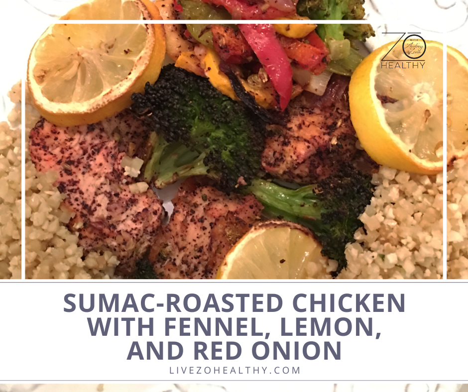 Sumac-Roasted Chicken with Fennel, Lemon, and Red Onion photo