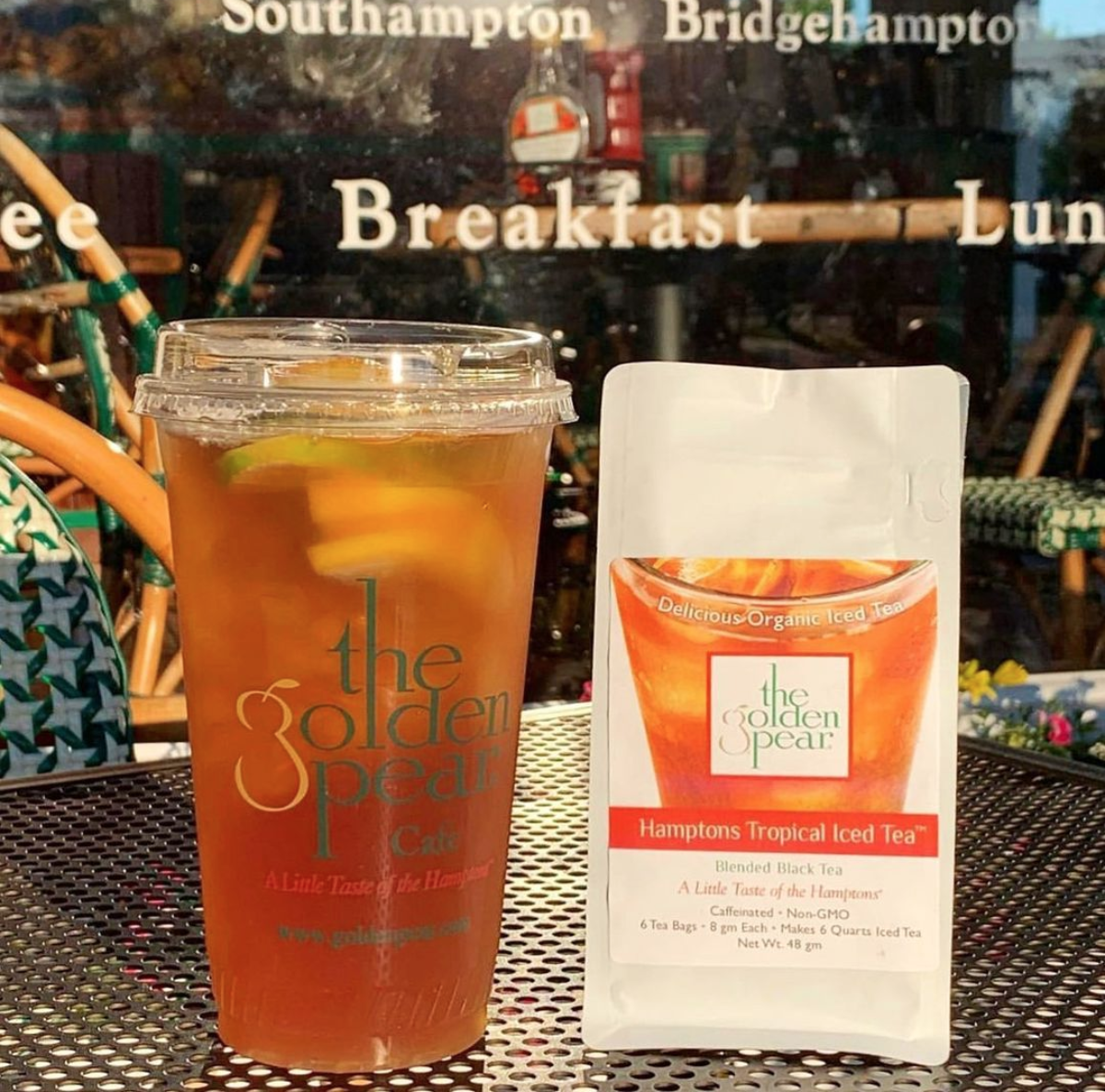 Iced Tea from The Golden Pear Cafe - Zo Healthy Hamptons Guide